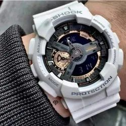 Men Round G-shock Wrist Watch With Box Packing, For Personal Use