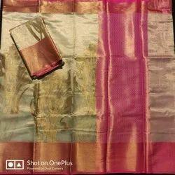 Banarasi Handloom Tissue Patola Silk Saree