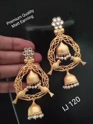 Golden Brass Fashion Earring