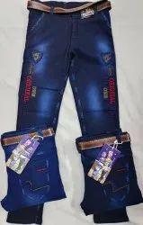 Party Wear Blue Kids Denim Jeans