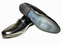 Formal Black Leather Loafer Shoes, Size: 6-10