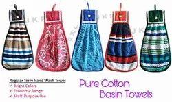 Cotton Printed Wash Basin Napkin, For Home
