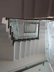 Stainless Steel Glass Railing, For Stairs, Material Grade: SS316