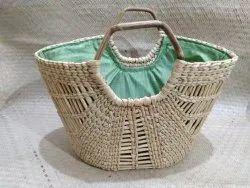Utsav Handicraft Plain Kauna Grass Bag