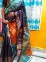 Party Wear Tasar Zari Ghichha Shibori Saree