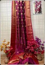 Banarasi Silk Weaving Zari Buta Work Sarees