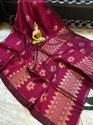 Organic Linen  Weaving Saree