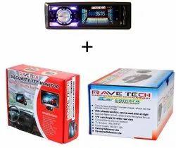 RAVETECH Car Mp4 Player combo, USB, Size: Single Din