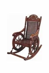 119 X 63 X 114 cm Weight: 30 kg Wooden Rocking Chair, Finish: Glossy
