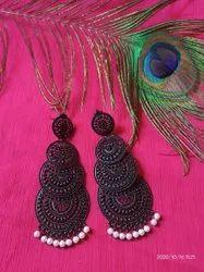 Black Fashion Earrings