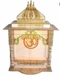 White & Golden Stone Temple, For Home, Size: 48x30x21 Inch