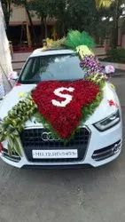 Rose Red,White Car decorations