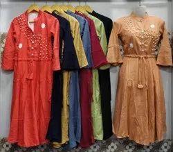 Cotton Party Wear Ladies Top And Kurtis, Wash Care: Machine wash