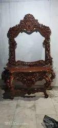 Wood saagwan Rectangular Antique Concealed Table