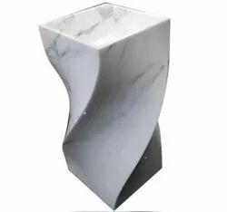 White Marble Wash Basin, For Bathroom