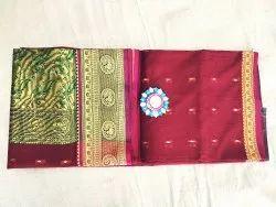 Zari 10 color 9 Yards 9 War Paithani, Dry clean