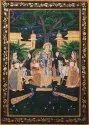 Silk Paintings Radha Krishna