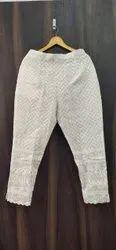 Cotton White Chicken Pants, Waist Size: M to xxl
