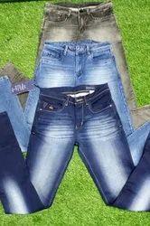 Denim Casual Wear Mens Knitted Jeans Fancy, Machine Wash
