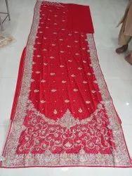 Zari Fancy Saree, Handwash, 5.5 m (separate blouse piece)