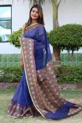 Banarasi Kora Muslin Silk Saree