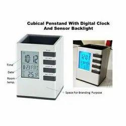 Digital clock pen holder