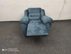 Influx furniture Blue Motorized Recliner Chair, For Home