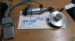 JSK Semi Automatic LED Bulb Cap Crimping Machine