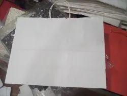 White Kraft Paper Bag, For Shopping, Capacity: 5kg