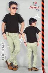 Cotton Reactive Boys Pant, Size: 22-40