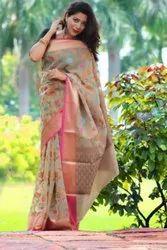 Banarasi Designer Kora Silk Saree