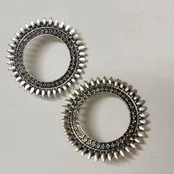 Excellentcrafts Girl German Silver Earring, 15Grams