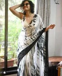 Shibhori Prints On Linen Sarees