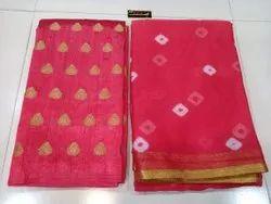 Chiffon Bandhej Print Saree