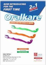 Medium Plastic Oralkare toothbrush, For Cleaning Teeth