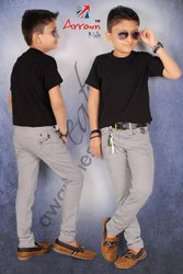 Denim Slim Fit Kids Boys Cotton Jeans Reactive, Nerrow