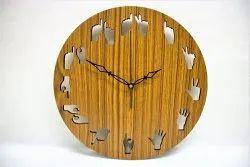 Analog Wood Mandala Wall Clock, For Home, Size: 12 Inch