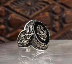 Male 925 Turkish Silver Rings, 8 Us