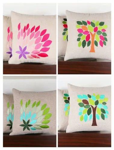 Decorative Jute Cushion Cover