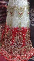 Crystal Work Net Bridal Lehenga Choli