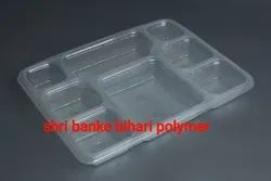 Disposable Plastic Meal Tray 8 Cp