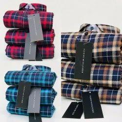 Cotton Khadi Tommy Hilfiger Shirt