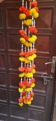 Artificial Marigold Fluffy Flowers Garlands For Decoration