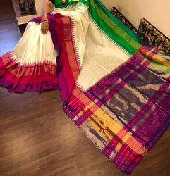 Pochampally Ikkat Pure Silk Saree With Blouse