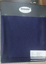 Raghav Polyester Viscose Navy Blue School Uniform Fabric, Plain/Solids