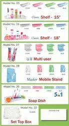 Plastic Clear matt Unbreakable Bathroom Accessories, For Home