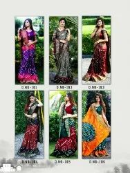 Party Wear Synthetic Saree, 6.3 m (with blouse piece)
