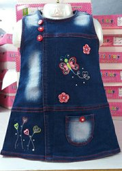 Girl's Middy Red Kids Readymade Garments, 1year To 7years