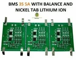 BMS 3S 5A With Balance and Nickel Tab Lithium Ion