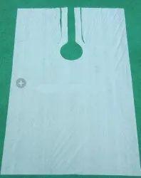 Non Oven Plain Salon White Apron, For Safety & Protection, Size: Large